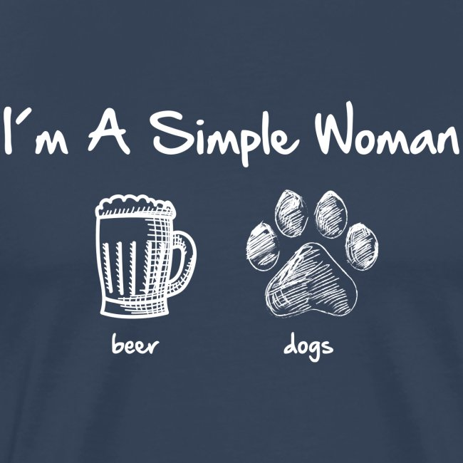 simple woman beer white - Männer Premium T-Shirt