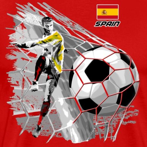 SPAIN FOOTBALL SOCCER PLAY T SHIRTS, GIFTS, etc. - Miesten premium t-paita