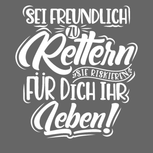 Sei freundlich zu Rettern - keine Gewalt gegen... - Männer Premium T-Shirt