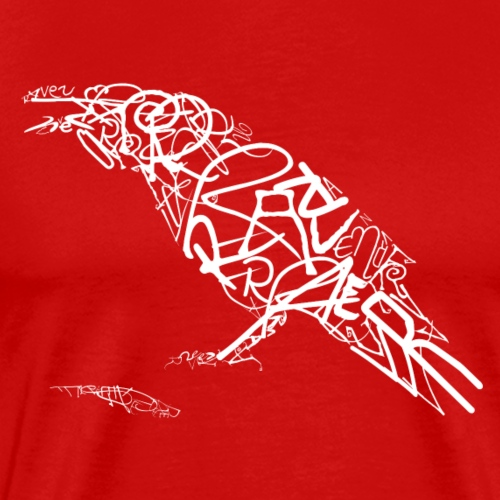 Typo Rabe_weiss.png - Männer Premium T-Shirt