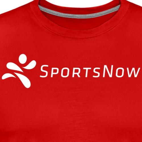 SportsNow-Logo Weiss - Männer Premium T-Shirt