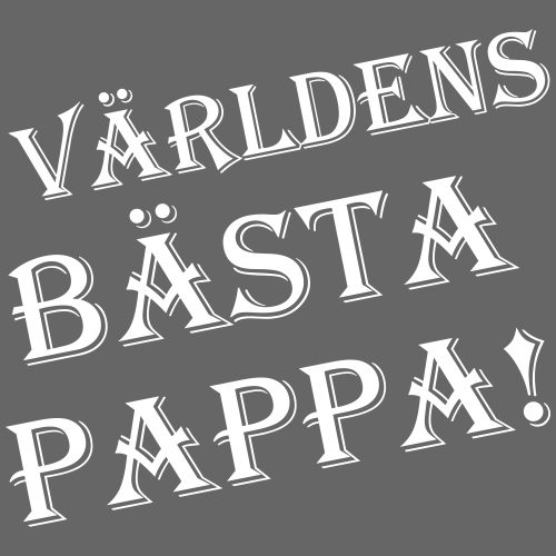 Världens Bästa Pappa - Premium-T-shirt herr