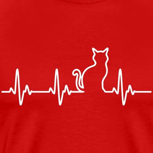 Ein Herz für Katzen - Männer Premium T-Shirt