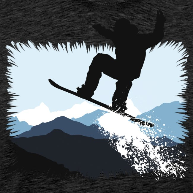Snowboarder Action Jump | Apresski Shirt gestalten