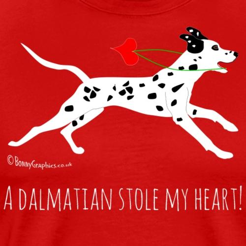 Dalmatian thief black white - Men's Premium T-Shirt