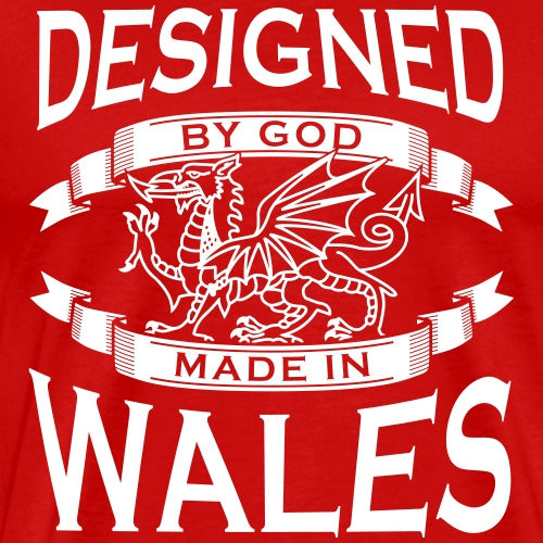 Designed by God - Wales M - Men's Premium T-Shirt