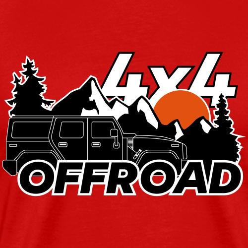 Offroad 4x4 Jeep Logo - Männer Premium T-Shirt