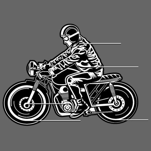 Cafe Racer Motorrad 04_schwarz weiß - Männer Premium T-Shirt