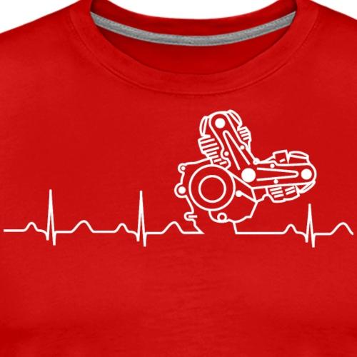 Ducati Heartbeat weiß - Männer Premium T-Shirt