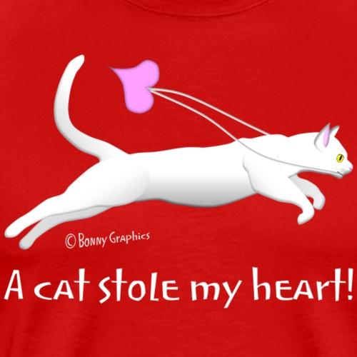 White cat thief - Men's Premium T-Shirt