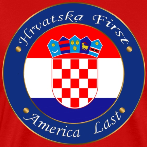 Hrvatska first - Men's Premium T-Shirt