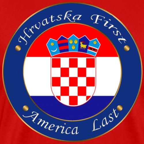 Hrvatska first - Men's Premium T-Shirt
