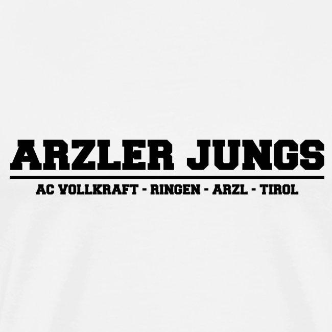 Arzler Jungs Schriftzug in Schwarz