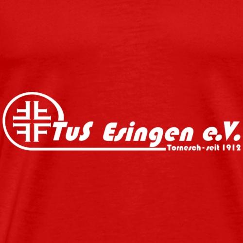 TuS-Esingen Logo Lang Weiß - Männer Premium T-Shirt