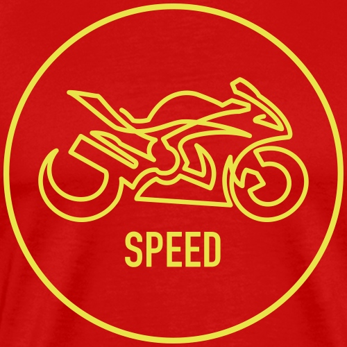 »One Line« Motorcycle - »SPEED« - Männer Premium T-Shirt