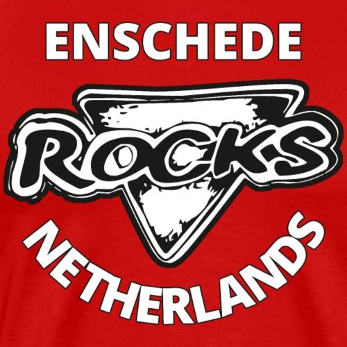 Rocks Enschede NL W-BW - Mannen Premium T-shirt