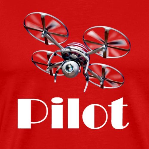 Drohnen Pilot weiss - Männer Premium T-Shirt