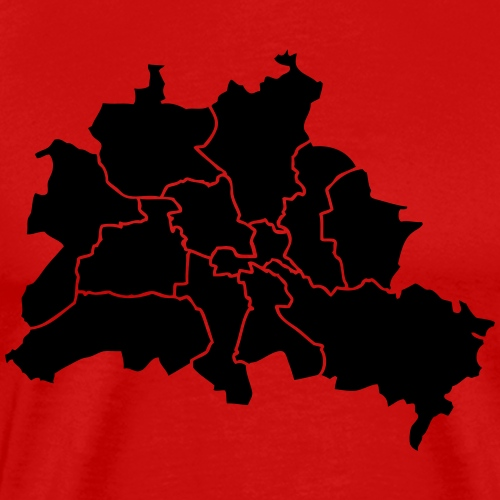 Berlinkarte, quartieri, quartieri - Maglietta Premium da uomo