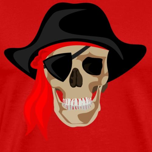 Pirat - Knochenpirat - Schädel - Männer Premium T-Shirt