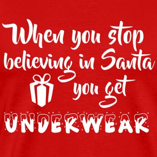 Believe in Santa weiss - Männer Premium T-Shirt