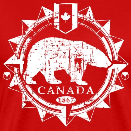 Eisbär Kompass Kanada - Männer Premium T-Shirt