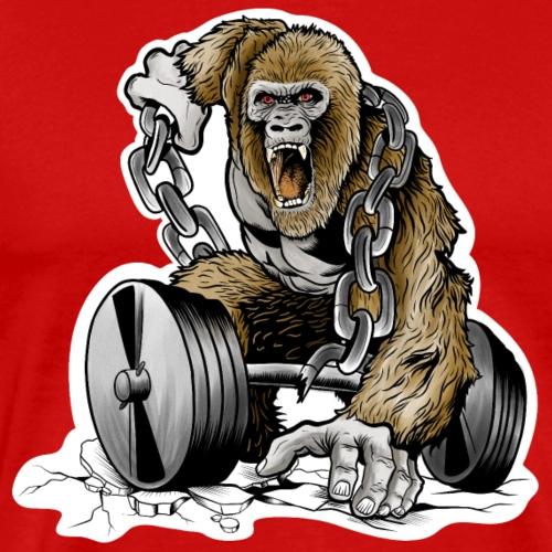 Gym- Gorilla - Männer Premium T-Shirt