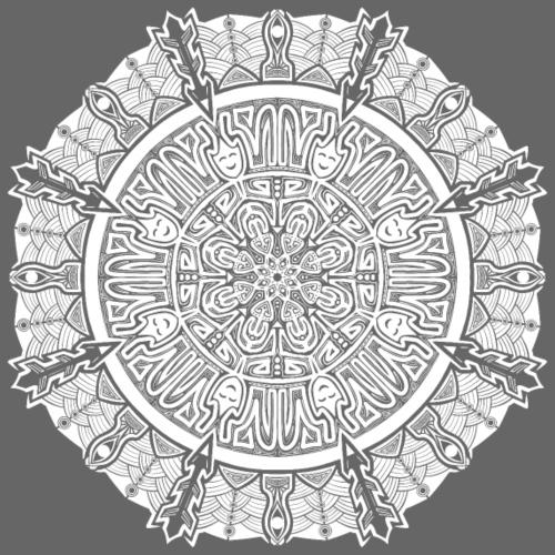 Mandala blanco - Camiseta premium hombre