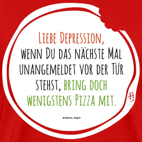 Depression Pizza - Männer Premium T-Shirt