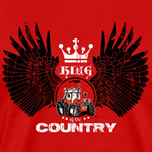 WINGS King of the country zwart wit op rood - Mannen Premium T-shirt