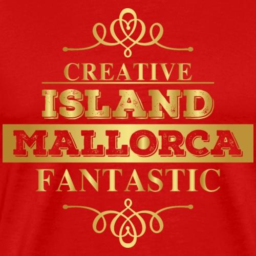 Mallorca - goldenes Luxus Design für Mallorca Fans - Männer Premium T-Shirt