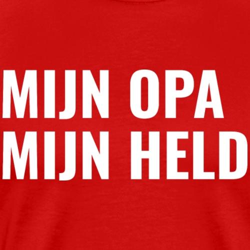 MIJN OPA MIJN HELD - Mannen Premium T-shirt
