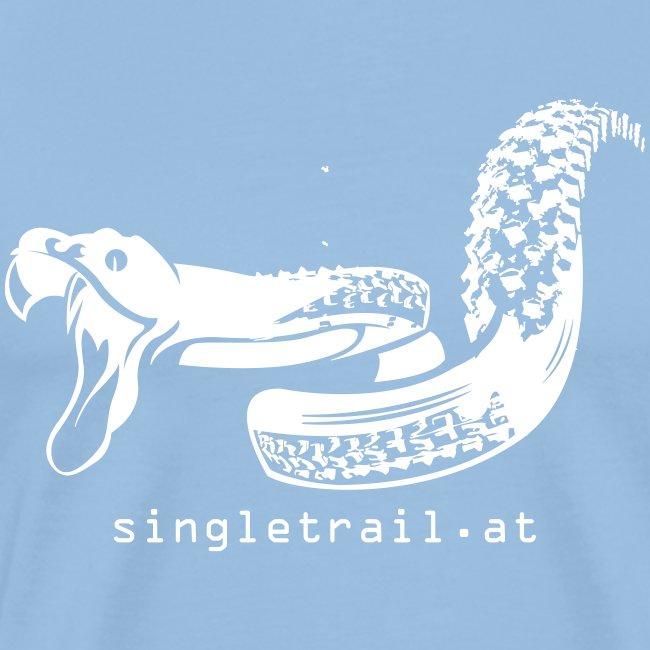 Single Trail Snake in Weiss