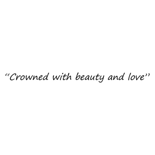 Crowned with beauty and love Black