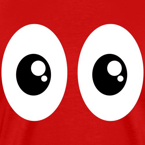 Lustige Comic Cartoon Augen Witzig Geschenk Frech - Männer Premium T-Shirt