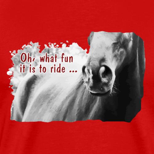 Jingle Bells lustig Pferde Spruch Reiten Geschenk - Männer Premium T-Shirt
