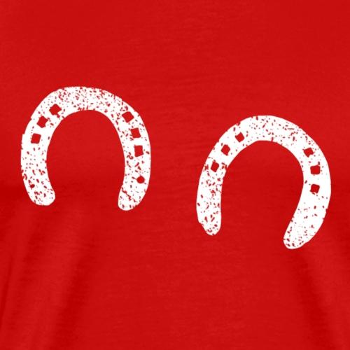 Fer à cheval forgeron bonheur Drôle d'idée cadeau cheval - T-shirt Premium Homme