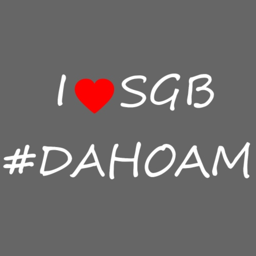 I ❤️ SGB #DAHOAM - Männer Premium T-Shirt