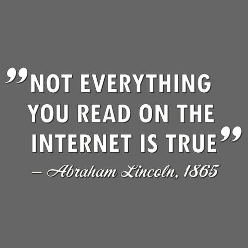 Not everything you read on the Internet is true - Premium-T-shirt herr