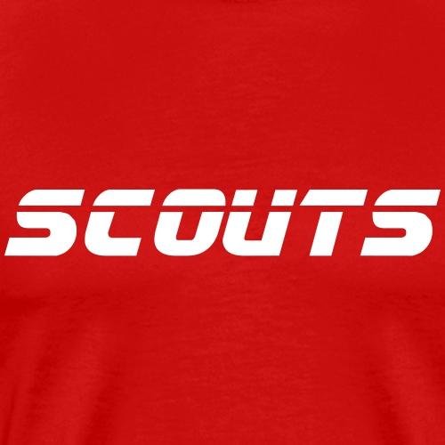 SCOUTS Retro Typo - Designfarbe frei wählbar - Männer Premium T-Shirt