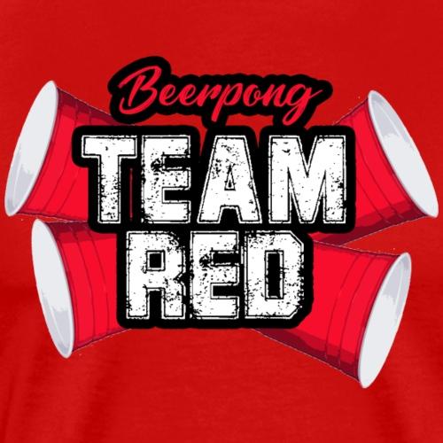 Beerpong team red - Mannen Premium T-shirt
