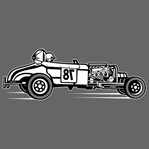 Hot Rod / Rat Rod 01_schwarz weiß - Männer Premium T-Shirt
