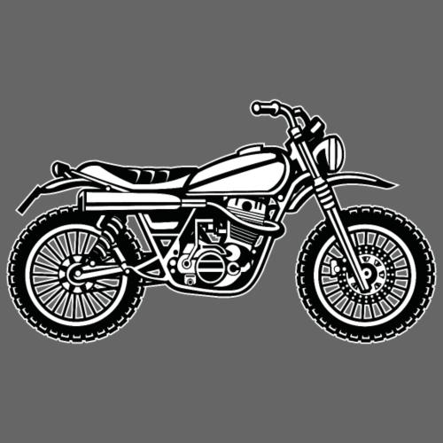 Motocross Enduro Motorrad 01_schwarz weiß - Männer Premium T-Shirt