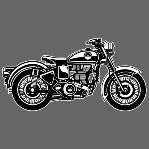 Motorrad / Classic Motorcycle 04_schwarz weiß - Männer Premium T-Shirt