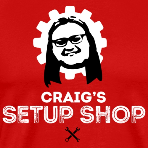 Craigs Setup Shop on Red - Men's Premium T-Shirt