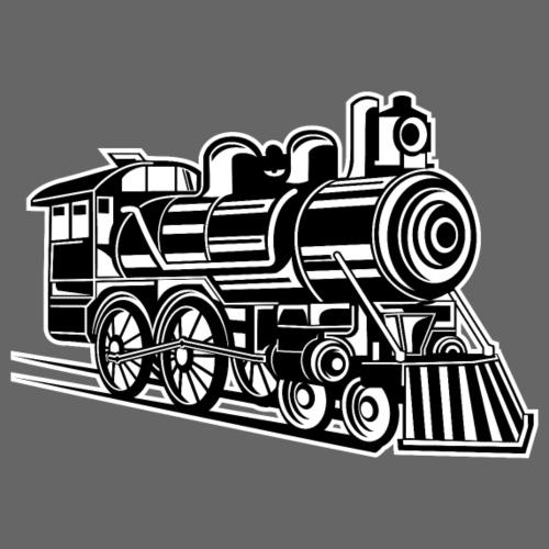 Lokomotive / Locomotive 01_schwarz weiß - Männer Premium T-Shirt