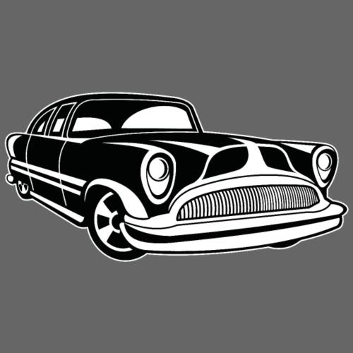 Lowrider / Oldtimer / Muscle Car 03_schwarz weiß - Männer Premium T-Shirt