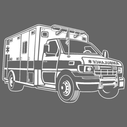 Krankenwagen / Rettungswagen 01_weiß - Männer Premium T-Shirt