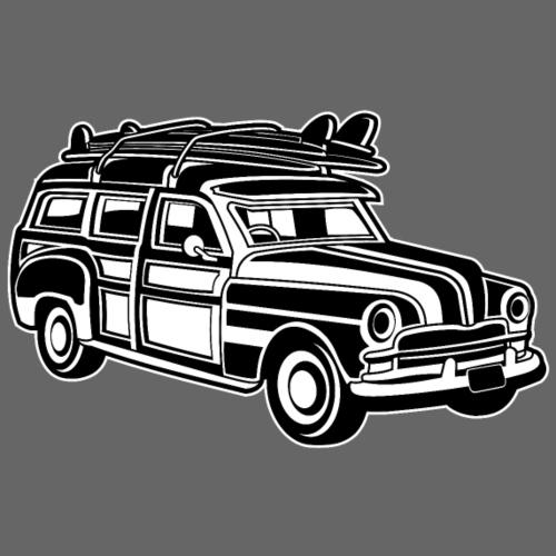 Chevy Cadilac Woodie / Oldtimer Kombi 01_sw - Männer Premium T-Shirt