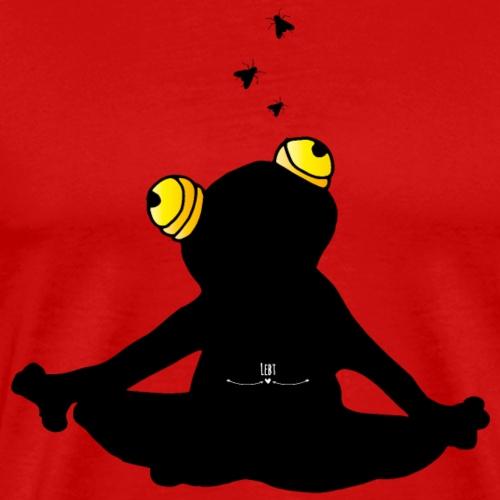 Yoga- Frosch, wer die Stille lebt.... - Männer Premium T-Shirt