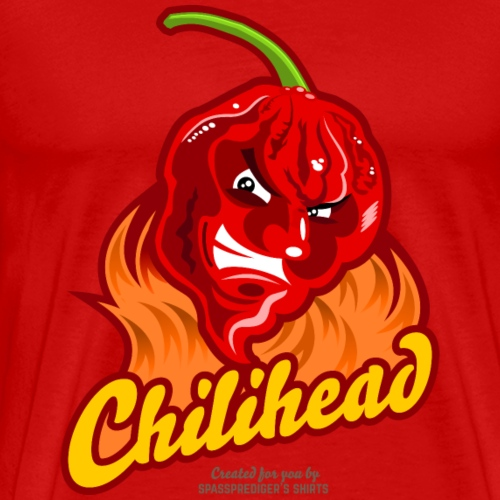 Chili Design Cartoon Chilihead   Grill T-Shirts - Männer Premium T-Shirt
